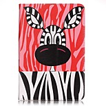 Full Body Card Holder / Wallet Zebra PU Leather Hard Case Cover For Apple iPad Mini 4 / iPad Mini 3/2/1