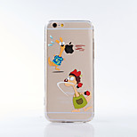 Back Cover Pattern Play With Apple Logo Acrylic Cartoon Hard Case Cover For Apple iPhone 6s Plus/6 Plus / iPhone 6s/6