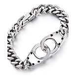 Kalen Personalised Silver Color Shiny 316L Stainless Steel Infinity Charm Male Chain Bracelet Men's Cheap Birthday Gifts
