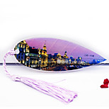 Leaf Vein Bookmark Bookmark Shanghai Bund Night Scenery Tourist Attraction Souvenirs Selling Customized Products