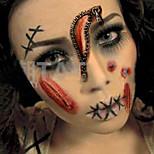 2pcs Vampire Bite Marks/Blood Halloween Scar Tattoos Temporary Tattoos Sticker Waterproof