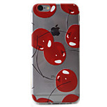 Cherry Pattern High Permeability TPU Material Phone Case For iPhone 6s 6Plus SE 5S 5