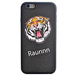 Tiger Pattern Silk Material Pattern TPU Phone Case For iPhone 6s 6 Plus