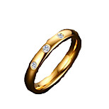 Ring Fashion Daily / Casual Jewelry Stainless Steel Women Band Rings 1pc,6 / 7 / 8 Gold