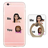 Kardashian expression Ring Holder Ultra-thin Translucent Soft TPU Back Cover for iPhone 6s Plus/6 Plus/6s/6/SE/5s/5