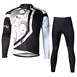Ilpaladin Sport Men Long Sleeve Cycling Jerseys Suit CT618 Black Machinery