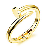 Women's Fashion Jewelry Nail Steel Gold Silver Plated Bangles Casual/Daily  Bracelet Accessories Christmas Gifts