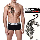 5Pcs  Cool Tiger King Temporary Tattoo Sticker Body Art Waterproof Summer Style Arm Chest Fake Tattoo Stickers