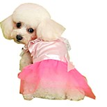 Sweety Pink Mesh Wedding Bridesmaid Dress for Pets Dogs (Assorted Sizes)