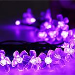 Solar Christmas Lights Petals 23ft 50 LED Waterproof Solar Light String Outdoor for Gardens,Wedding,Christmas Tree
