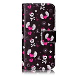 Skull Strong Relief Colored Card Holder PU Material Leather for  iPhone 7 6s  SE 5s 5