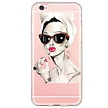 For iPhone 7 Sexy Lady Pattern TPU Ultra-thin Ranslucent Soft Back Cover for iPhone 6s 6 Plus SE 5s 5