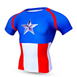Sports Bike/Cycling Tops Men's Short Sleeve Breathable / Quick Dry / Compression / Comfortable Polyester / Terylene