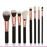 8pcs Makeup Brushes Set Goat Hair / Nylon Professional / Full Coverage Wood Face Others