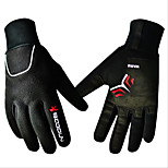 2016 Outdoor Bike Gloves Windproof Waterproof Outdoor Men and Women Long Finger Cycling Sports Gloves 1 Pair