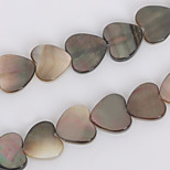 Beadia 10mm Heart Natural Black Lip Sea Shell Beads(38cm/approx 39pcs)