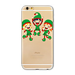 Back Cover Translucent Pattern Christmas children TPU Soft Case Cover For Apple iPhone 7 7 Plus iPhone 6 6 Plus iPhone 5