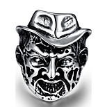 Vintage Punk Titanium Steel Silver Rings Тату Cartoon Tiffan Jewelry Ring Men Men Jewelry
