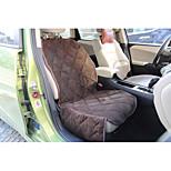 Dog Car Seat Cover Pet Mats & Pads Waterproof Foldable Black Brown Plush