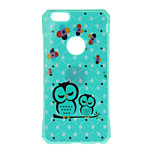 Owl Pattern Metal Plate Inlay TPU Back Case for For iPhone 7 7 Plus 6s 6 Plus SE 5s 5
