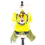 Cute Christmas Reindeer Halloween Dog Clothes Cotton Fleece Jumpsuits for Pets Dogs