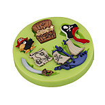 Pirate Treasure Map Cake Decoration Silicone Fondant Mold Sugarcraft Tools Polymer Clay Fimo Chocolate Candy Soap Making