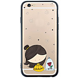 Transparent/Pattern Little Girl TPU Soft Case Back Cover For Apple iPhone 6s Plus/6 Plus/iPhone 6s/6/iPhone SE/5s/5
