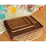 The square black walnut wood plates Japanese black walnut splice tray Wooden fumigation-free pallet
