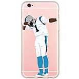 iPhone 7 7Plus Cartoon Sports Stars Pattern TPU Ultra-thin Translucent Soft Back Cover for iPhone 6s 6 Plus 5s 5 5E