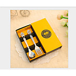 Two Pieces Of Stainless Steel Tableware Sets Of Spoons Forks