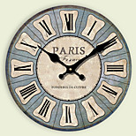 1PC The Mediterranean European Rural Idyll Retro Bracket Clock  Adornment Mute Hanging Clock(Pattern is Random)