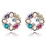 Thousands of colors  Earring CircleJewelry 1 pair Fashionable Alloy Rose Gold Party