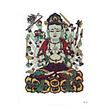 1pc Colored Drawing Thousand-Hand Kwan-yin Buddha Pattern Tattoo Temporary Women Body Art Tattoo Sticker HB-242