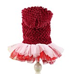 Elegant Autumn Winter Lollipop Pineapple Fleece Yarn Dress Dogs Clothing with Hoodie for Pets Dogs