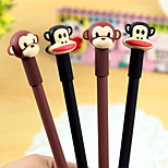 Cute Cartoon Monkey Head Neutral Pen(1PC)