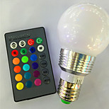 E26/E27 Colorful RGB Remote Control Bulb 3W