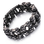 Kalen New 316L Stainless Steel Brushed Bike Chain Bracelet Cool Oxidized Dark Dull Bicycle Chain Men's Bracelet Gifts