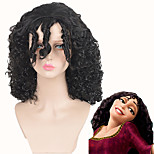 Gothel Witch Halloween Cosplay Short Black Curly Shaggy Wig Afro African American Wigs Tangled Costume Wig