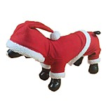 Lovely Santa Claus Costume Jumpsuit Dogs Christmas Clothes for Pets Puppy Clothing (Assorted Sizes)
