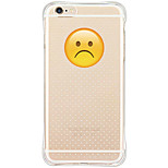 Unhapppy Face Design Soft TPU Anti Shock/Dust proof/Translucent Back Fundas for iPhone 6s Plus/6 Plus/6s/6/SE/5S/5