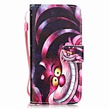 Cat Pattern Material PU Card Holder Leather for  iPhone 7 7 Plus 6s 6 Plus SE 5s 5 5C 4S