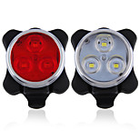 USB Rechargeable  Bicycle 3LED Head Front Rear Tail Clip Light Lamp