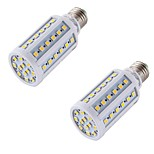 YouOKLight 2PCS E27 8W 560lm 3000K 60-SMD 5050 LED Warm White Light Lamp Bulb - White (AC 200-265V)