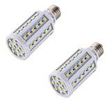 8 E26/E27 Bombillas LED de Mazorca A60(A19) 60 SMD 5050 560 lm Blanco Cálido Decorativa AC 100-240 V 2 piezas