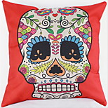 Cotton Pillow Cushion Cover New Amazon Aliexpress Hot Black And White Color Skull