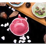 Rose Plastic Ceramic Plate