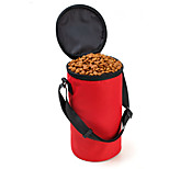Cat / Dog Bowls & Water Bottles / Feeders Pet Bowls & Feeding Waterproof / Portable Red / Black / Brown / Gray Oxford Fabric
