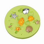 Sea Shells Summer Beach CupCake Decoration Silicone Fondant Mold Sugarcraft Tools Polymer Clay Chocolate Candy Making