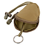 FURA Oxford Fabric  Coin Purse Key Bag with Lanyard - Black  / Khaki