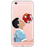 Para Funda iPhone 6 / Funda iPhone 6 Plus / Funda iPhone 5 Ultrafina / Traslúcido Funda Cubierta Trasera Funda Dibujos Suave TPU Apple